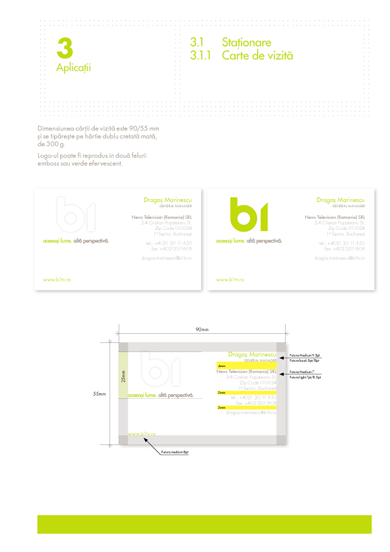 B1 rebranding stationery