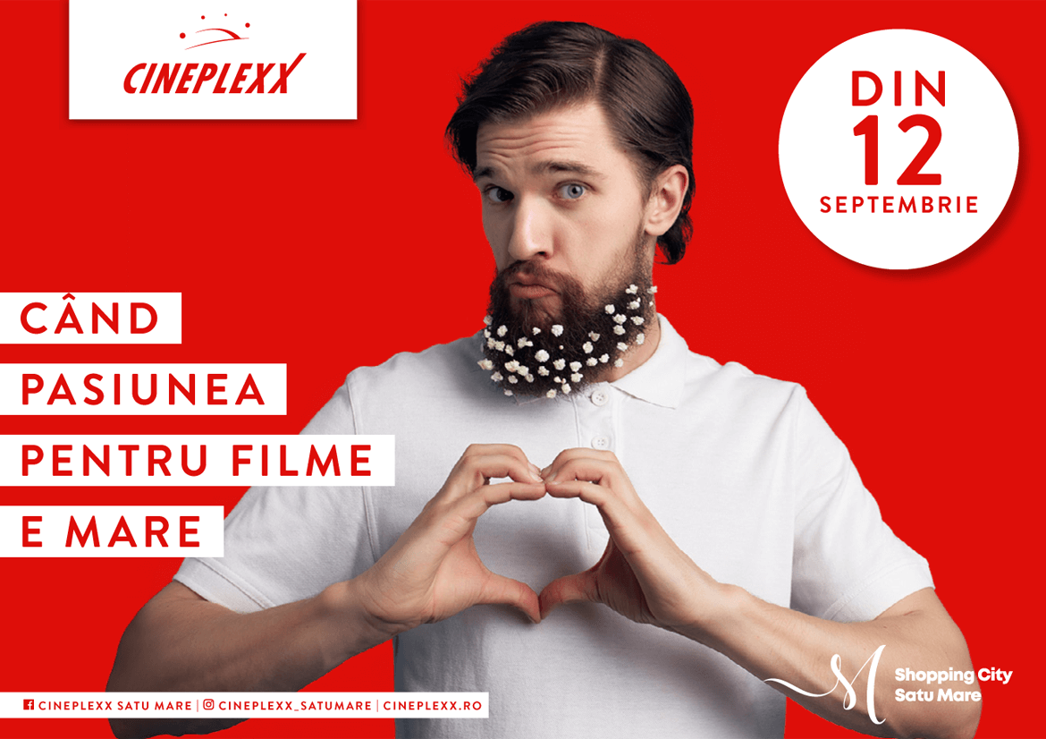 Cineplexx Satu Mare launch campaign key visual