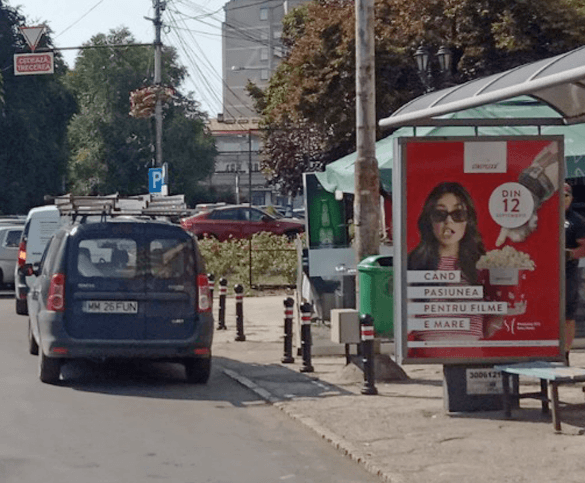 Cineplexx Satu Mare launch campaign OOH city light girl