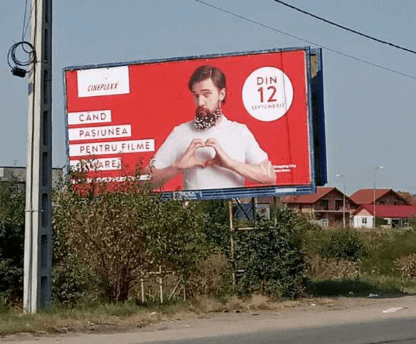 Cineplexx Satu Mare launch campaign OOH billboard boy
