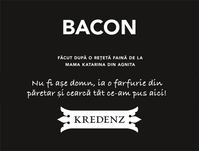 Short creative story for bacon label