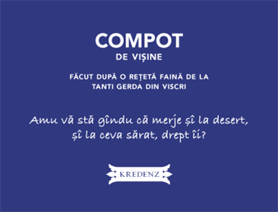 Short creative story for compote label