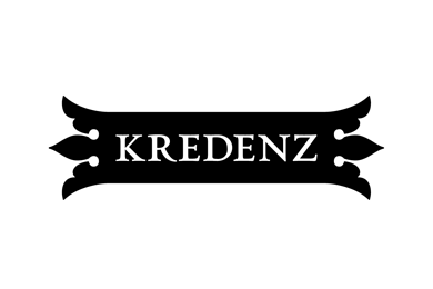 Kredenz logo derived from the traditional saxon wood cabinet
