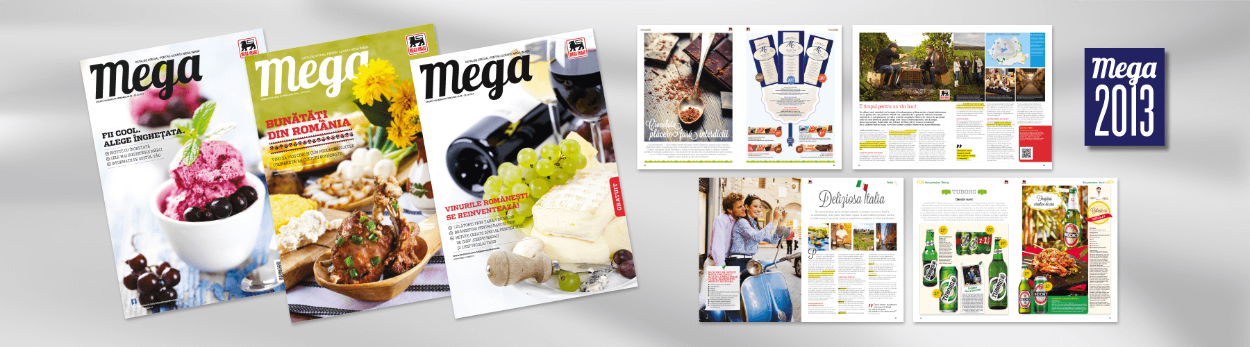 Mega customer magazine with a fresh design in 2013