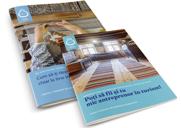 The Mihai Eminescu Trust (MET) brochures for entrepreneurs, covers