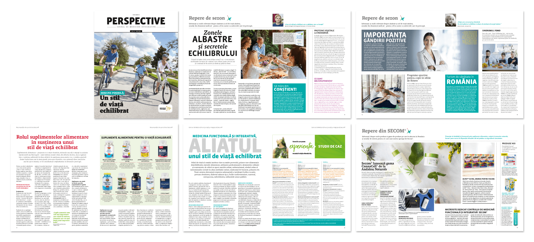 Perspective customer magazine layout of the 2019 updated concept