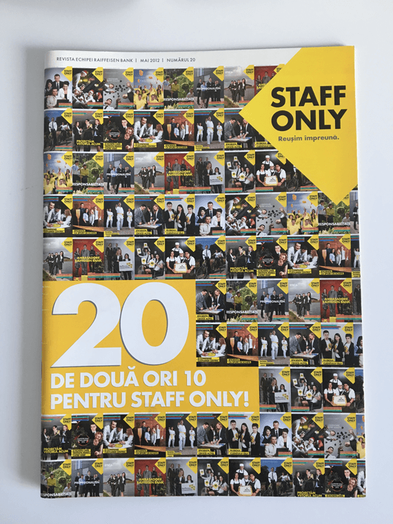 Staff Only in 2012, issue number 20