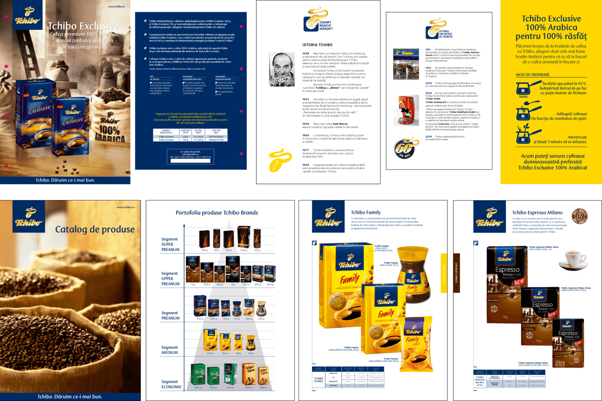 Tchibo Romania marketing materials