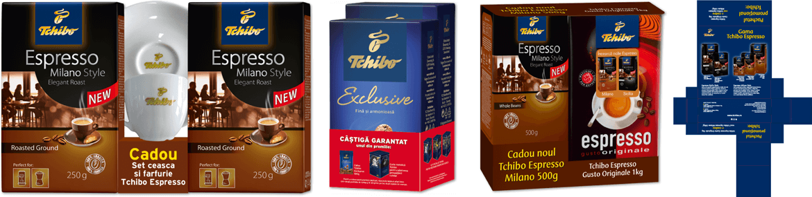 Tchibo Romania packaging